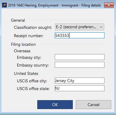 Employment - Immigration Based Matter Information Sheet